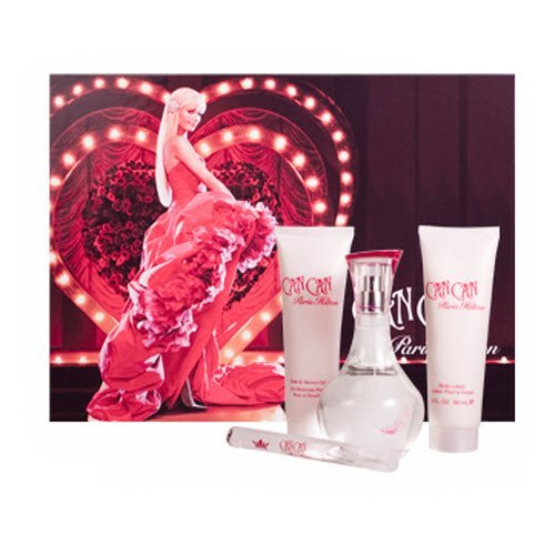 Paris Hilton Can Can By Paris Hilton For Women Eau De Parfum Spray 3.4 Oz & Body Lotion 3 Oz & Shower Gel 3 Oz & Eau De Parfum .33 Oz Mini