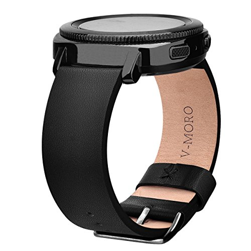 Sport Leather Band - SM-R600 Gear Sport Bands, V-Moro 20mm Softer Leather Samsung Gear Sport Band Bracelet Strap for Samsung Gear Sport Smartwatch R600 Fitness 6.1