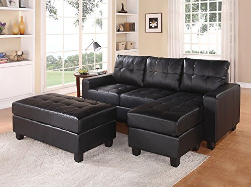Acme Leather Sectional Reversible Ottoman Advantages