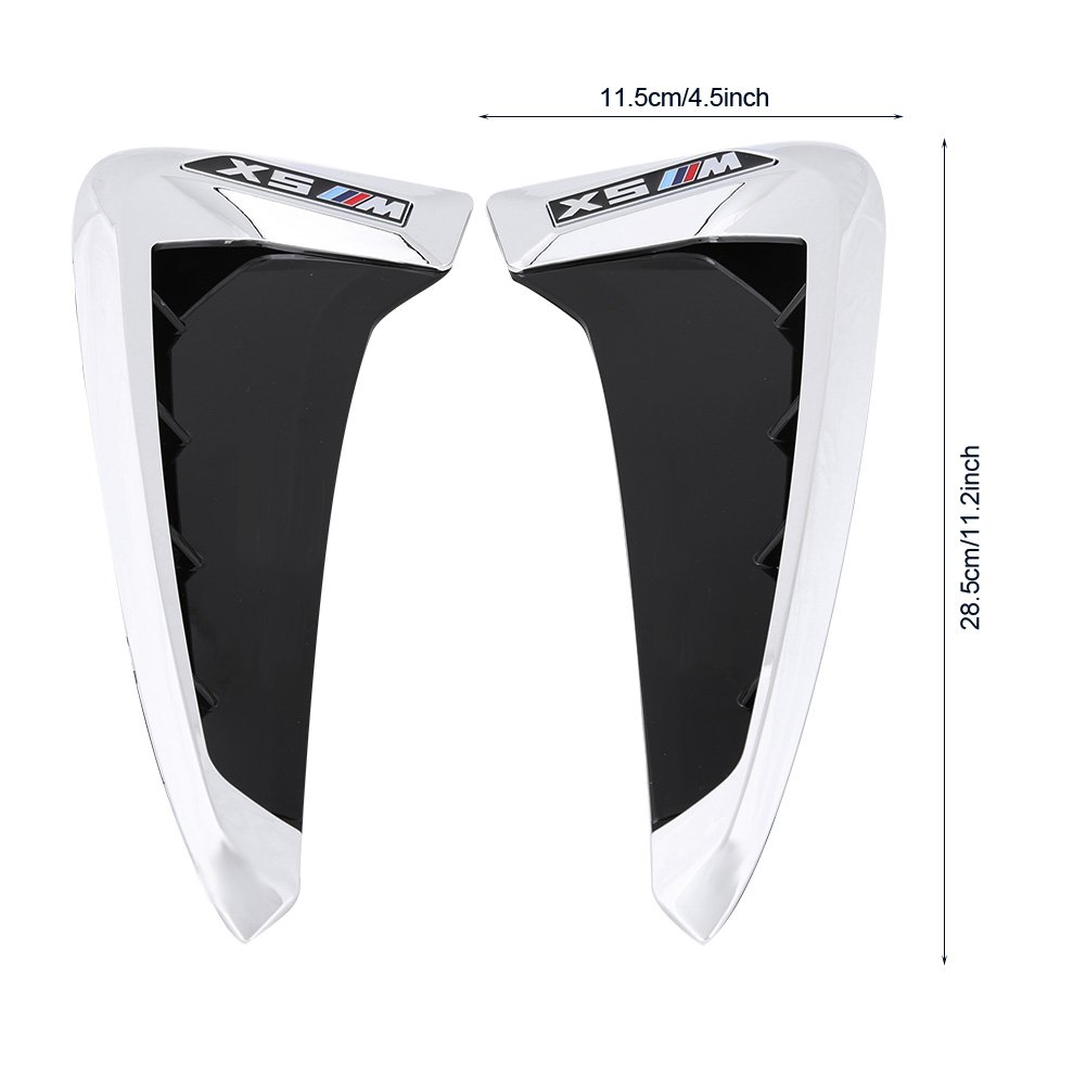 Acouto Pair of Car Air Vent Cover Trim Front Fender Side for BMW X5 F15 2014-2017 X DRIVE-Black