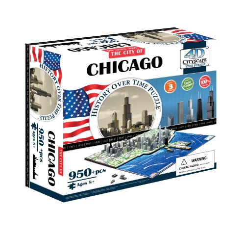 4D Cityscape Chicago Skyline (Teaser Poster Puzzle)