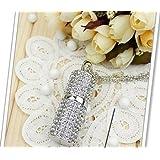 8gb Crystal Lipstick Case Jewelry USB Flash Memory Drive Necklace