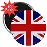 2.25 Inch Magnet (10 Pack) British English Flag HD
