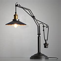 JINGUO Lighting Vintage Desk Lamp, Adjustable Traditional Table Desk Lamps Reading Table Light Antique Night Working Lighting Farmhouse Indoor use 1 E26 Bulb