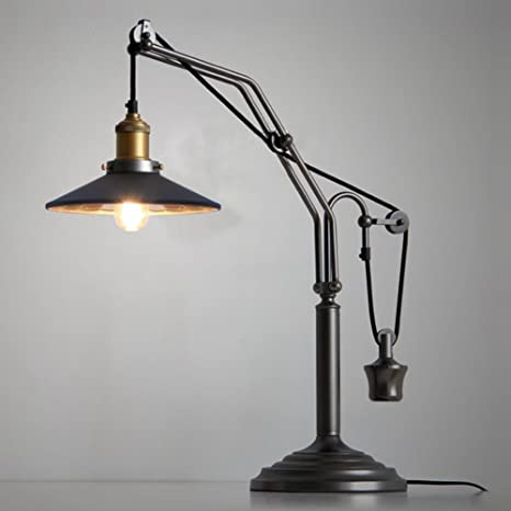 JINGUO Lighting Vintage Desk Lamp Adjustable Traditional Table Lamps Reading Light Antique Night