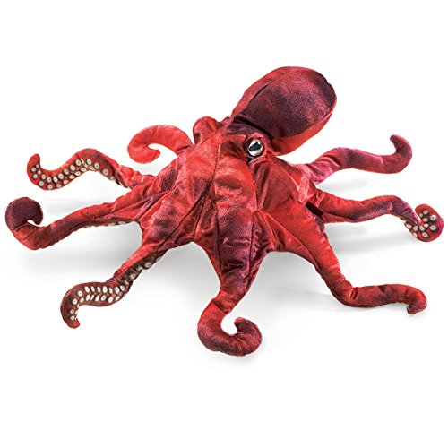 Folkmanis Red Octopus Hand Puppet from Folkmanis