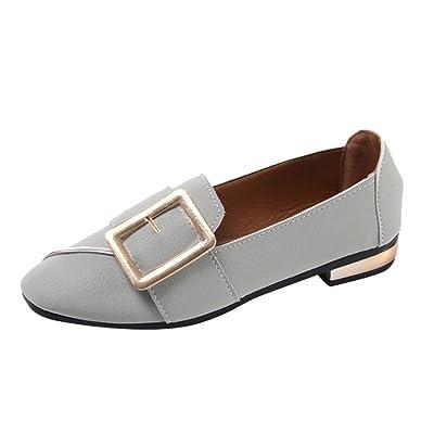 Zapatos para Mujer, ???? RETUROM 2018 Zapatos de Tacón bajo para Mujer Zapatos Cuadrados de Punta Simple