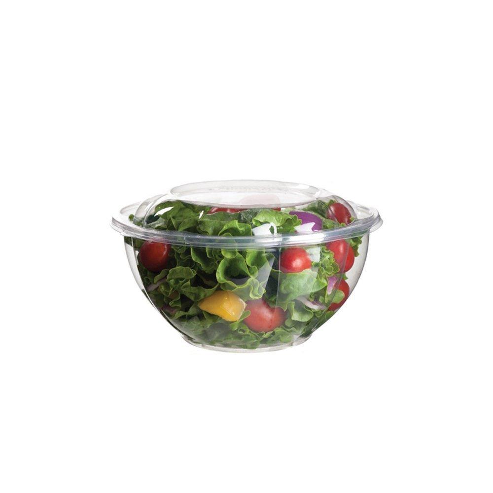 Clear 24 ounce bowl Eco-Products EPSB32 Renewable & Compostable Salad Bowls w Lids - 32oz. (Case of 150)