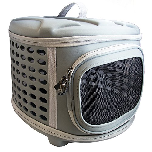 Pet Magasin Hard Cover Collapsible Cat Carrier - Pet Travel Kennel with Top-Load & Foldable Feature for Cats, Small Dogs Puppies & Rabbits ()