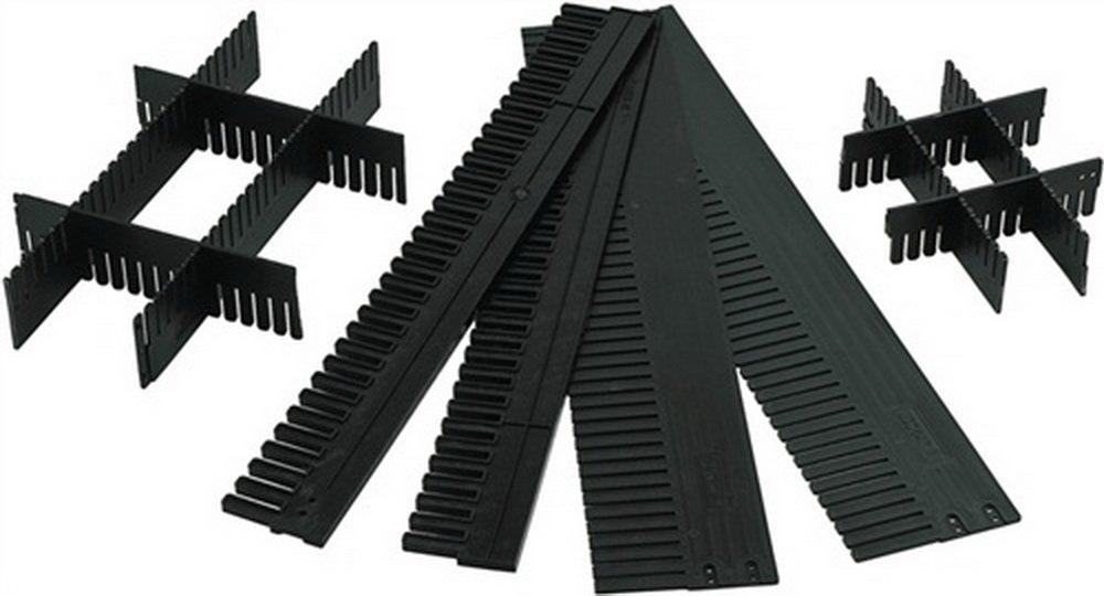 Unterteiler anthrazit L.1150xH.100mm S.5mm zuschneidbar, 10 Stück