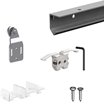 Amazon Com Slid Up 120 Sliding Closet Door Hardware Kit 59 Inch Track For 1 Door Up To 100lbs Home Improvement