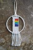 Rainbow LGBTQ Rear View Mirror Car Tapestry Charm Handmade