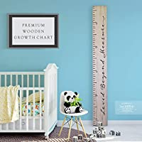 Back40Life - Premium Series - (Loved Beyond Measure) Wooden Growth Chart Height Ruler