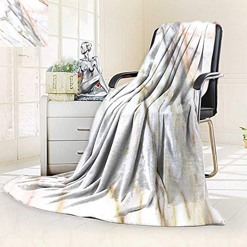 YOYI-HOME Digital Printing Duplex Printed Blanket Marble Texture high Resolution Industrial Buildings s Marble countertops Summer Quilt Comforter/47 W by 79