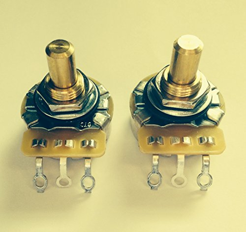 PAIR (2X) MOJO CTS 500K Short SOLID Shaft Audio Taper Potentiometers / Pots - 10% Tolerance (Audio Taper)