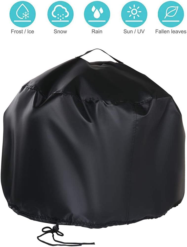Outdoor Heavy-Duty Garden Waterproof Fire Bowl Cover with Handles Airvents /& Drawstring Rilime Round Patio Fire Pit Cover 20 D x 14.5 H