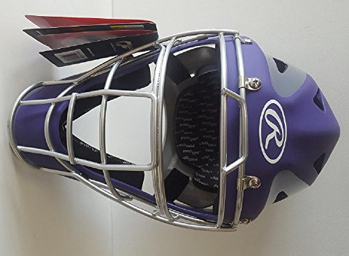 Rawlings CHVEL Velo Adult Purple / Gray Catchers Helmet Fits 7-1/8'' - 7-3/4'' by Rawlings