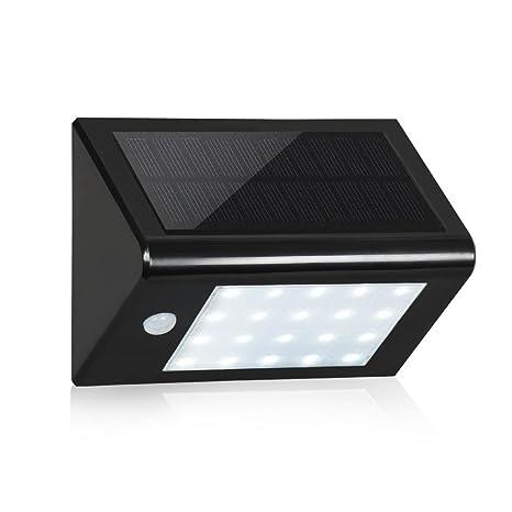 T-SUN Lamparas Solares con Sensor de Movimiento de 20 LED , 3-en