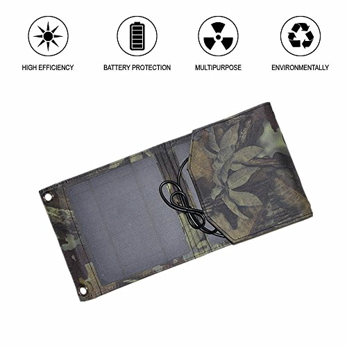 ocrystalline Silicon Solar Panel Outdoor Portable Charger Smartphone (Camouflage) ()