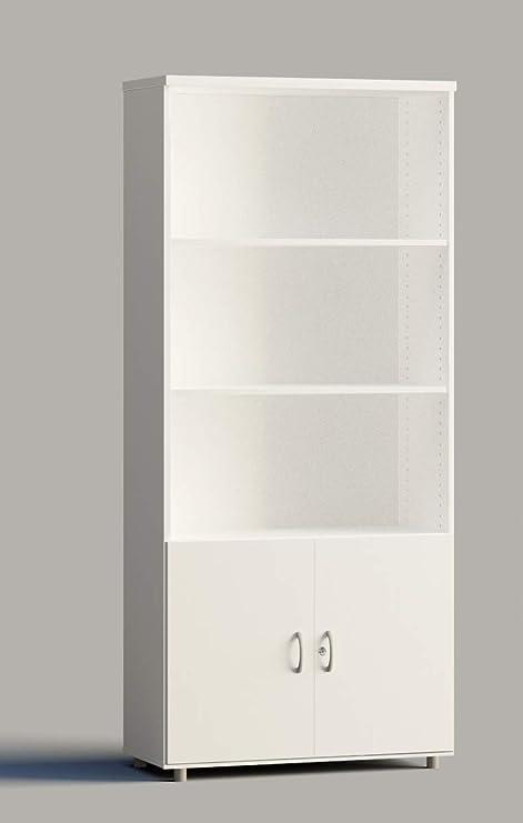 Euromof Armario de Oficina, Alto. con Puertas Bajas. 92x42x210 cm ...