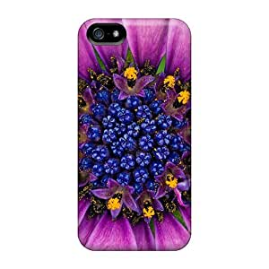 LatonyaSBlack Case Cover Protector Specially Made For Iphone 5/5s Amazing Purple Flower