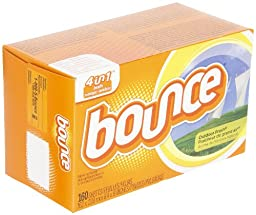 Bounce 80168 Outdoor Fresh Fabric Softener Dryer Sheet (Case of 6 Boxes, 160 Sheets per Box)