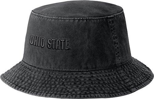 - Nike Men's Ohio State Buckeyes Black Bucket Hat (Black, Small/Medium)