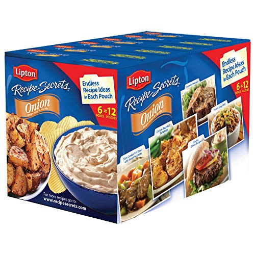 Lipton Soup Recipe Secrets & Dip Mix, Onion Flavor, 2 Oz, Pack of 6