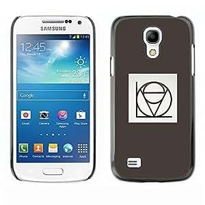 TopCaseStore / la caja del caucho duro de la cubierta de protección de la piel - Love Stylistic Calligraphy Grey Minimalist - Samsung Galaxy S4 Mini i9190 MINI VERSION!