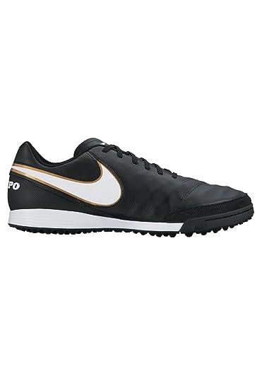 Nike Tiempo Genio II piel TF, zapatillas de fútbol para hombre, para entrenamiento, black/gold/white: Amazon.es: Deportes y aire libre