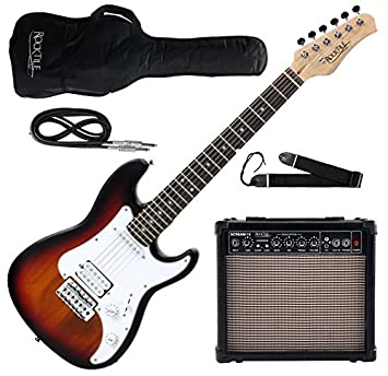 Rocktile Guitarra eléctrica Sphere Junior 3/4 sunburst (con amplificador, cable y correa): Amazon.es: Instrumentos musicales