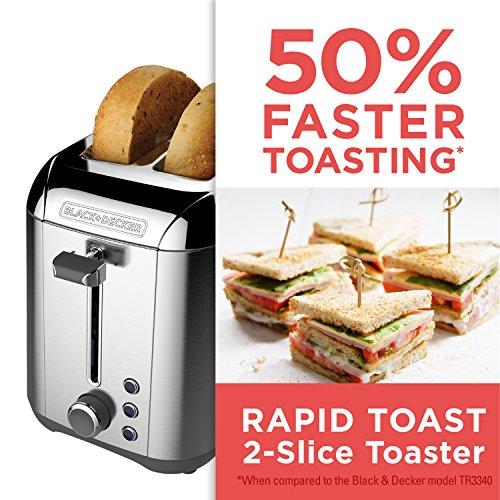Black+Decker TR3500SD Bread toaster, Stainless Steel