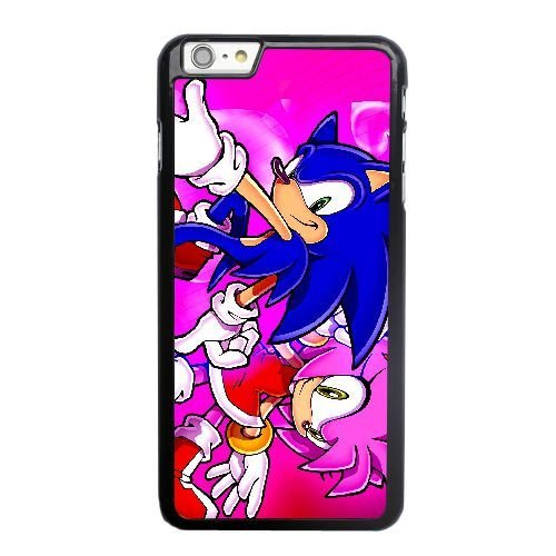 ZAE Made Phone Case with Free Screen Protector [Tempered Glass] Amy Rose Sonic The Hedgehog Cover Black Case for iPhone 6 6S 4.7 inch BBF-47129