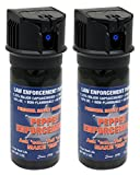 Pepper Enforcement (Pack of 2) Splatter Stream Police Strength 10% OC Flip Top Spray - Professional Grade Emergency Self Defense Non Lethal Weapon for Personal Protection and Safety