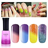 iLuve Long Lasting Soak Off Chameleon Temperature Colour Change Nail Polish with 72 Colors Choices | 4 bottle with 12ml UV Gel Polish of Color #54020