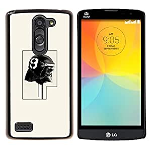 Qstar Arte & diseño plástico duro Fundas Cover Cubre Hard Case Cover para LG L Prime D337 / L Bello D337 (Policía del gorila)