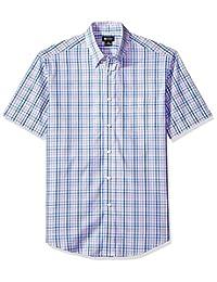 Haggar Men's Short Sleeve Multi Plaid Shirt