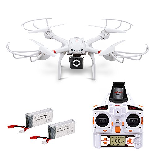 Quadcopter-with-Camera-X101-FPV-Drone-720P-HD-Wide-Angle-Camera-Live-Video-with-Headless-Mode-24GHz-4-Chanel-6-Axis-Gyro-RTF-RC-Drone-Compatible-with-VR-Headset-and-Additional-Spare-Parts