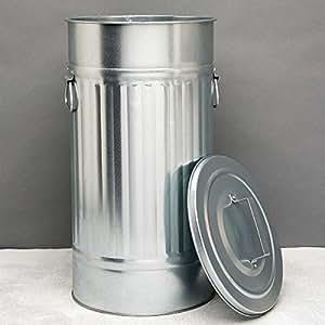 """BUTLERS ZINC Cubo de basura """"Oskar' 55 l"""