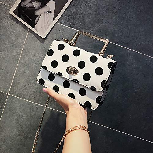 Petit Main à Sauvage Frais Sac Blanc de chaîne de Version Femme coréenne l'épaule de Mode Messenger WSLMHH carré Sac marée Sac 7xBqw7Agd