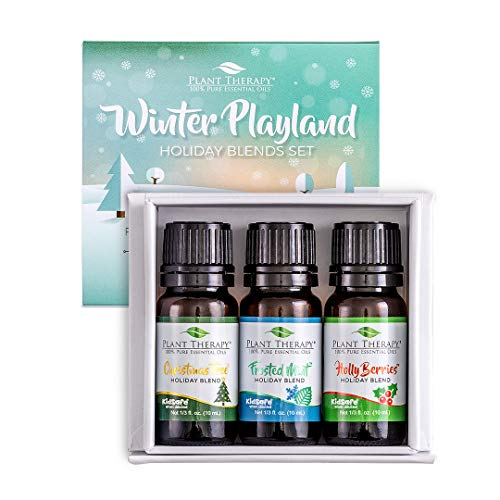 Plant Therapy Essential Oil | Winter Playland Holiday Boxed Gift Set | 100% Pure, Undiluted, Natural Aromatherapy, Therapeutic Grade | 10 milliliter (1/3 ounce)