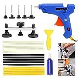 YaeTek Paintless Dent Repair Removal PDR Tools Auto Body Kit Puller Bridge Hot Melt Glue Gun 15 Glue Sticks Set