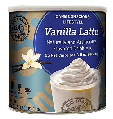 Big Train Carb Conscious Blended Ice Coffee, Vanilla Latte, 1.85 Pound