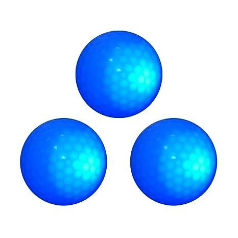monkeyjack 3 piezas brilla en la oscuridad azul luz LED de pelota ...