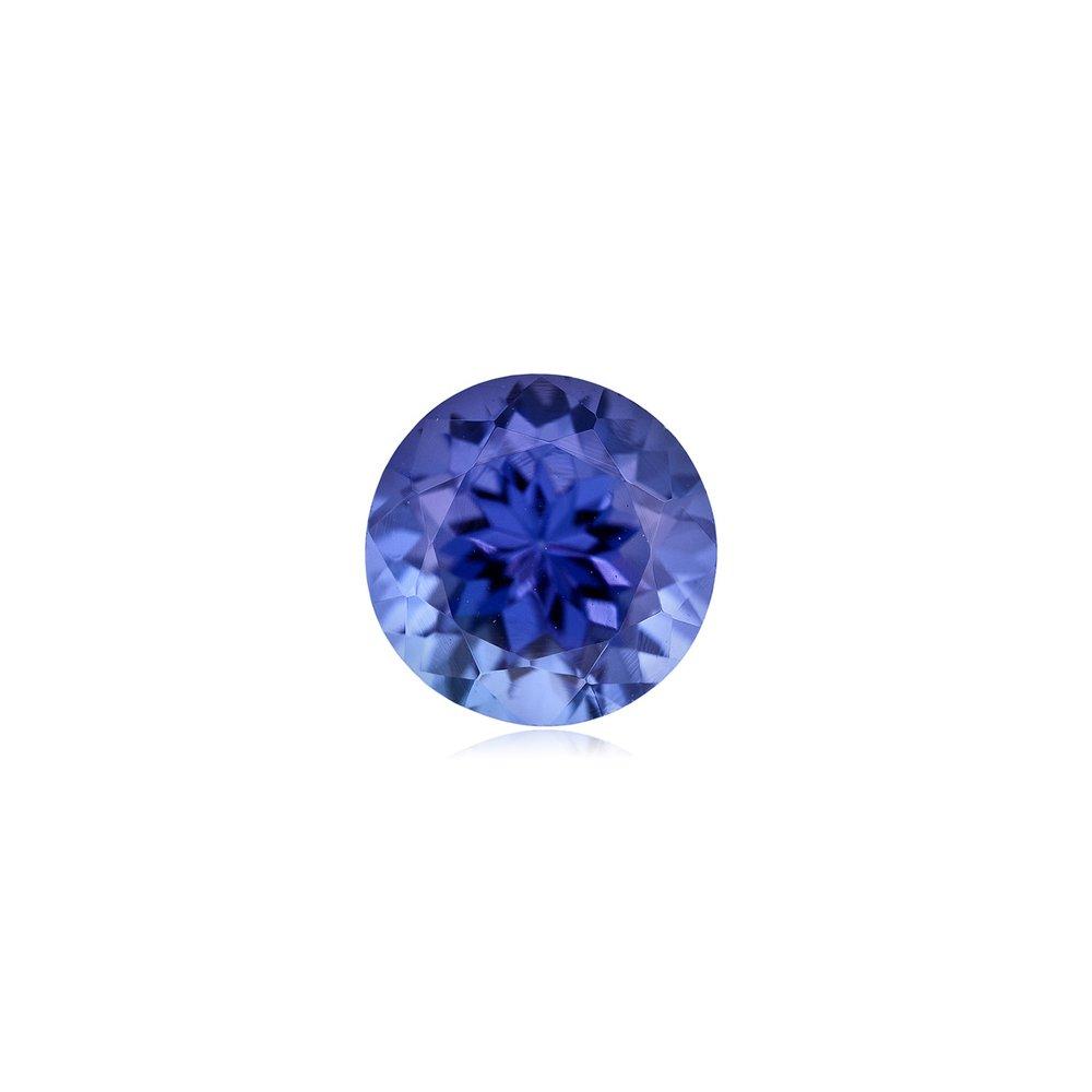 0.25-0.34 Cts of 4 mm AA+ Round Tanzanite ( 1 pc ) Loose Gemstone