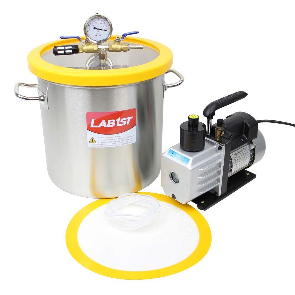 lab1st 5 Gallon Vacuum Degassing Chamber Kit with 5CFM Pump by LAB1ST