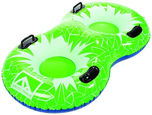 Franklin Sports Arctic Trails Inflatable Snow Sled - Snow Tube - Snow Rider - Snow Racer -Lightweight Sled - Freeze-Resistant