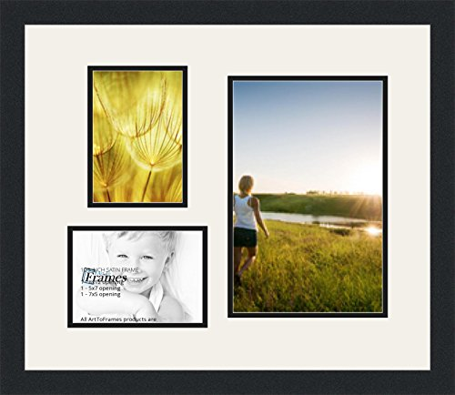 Arttoframes Collage Photo Frame Double Mat With 1 8x12 And 2 5x7