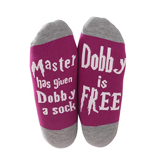 Harry Potter Triwizard Cup - Moyel Dobby No Show Socks For Women Novelty Funny Cool Gifts (Purple, 1)