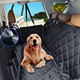 Leber Dog Cover for Car Pet Seat Rear Hammock Style(Suitable Half Surrounded) for Rear Bench Exclusive Seat-Hugging Side Flaps Anti-Scratch Anti-Slip Waterproof…